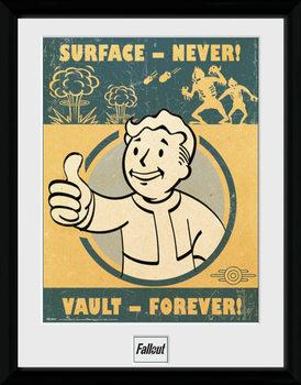 Fallout 4 - Vault Forever ingelijste poster met glas