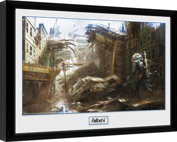 Ingelijste poster Fallout 4 - Vertical Slice