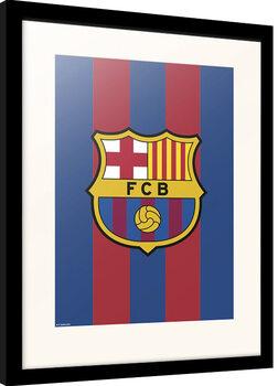 Ingelijste poster FC Barcelona