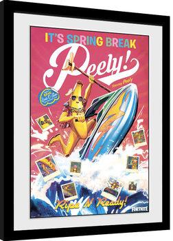 Ingelijste poster Fortnite - Spring Break Peely