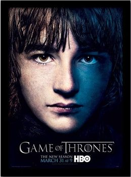 GAME OF THRONES 3 - bran ingelijste poster met glas