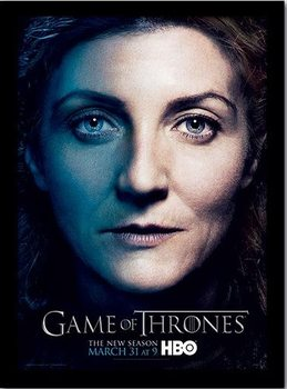 GAME OF THRONES 3 - catelyn ingelijste poster met glas