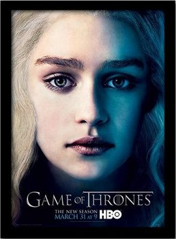 GAME OF THRONES 3 - daenery ingelijste poster met glas