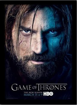 GAME OF THRONES 3 - jaime ingelijste poster met glas