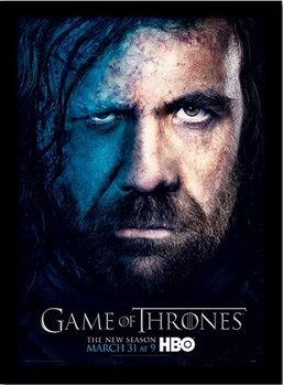 GAME OF THRONES 3 - sandor ingelijste poster met glas
