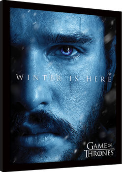 Game of Thrones - Winter is Here - Jon Ingelijste poster