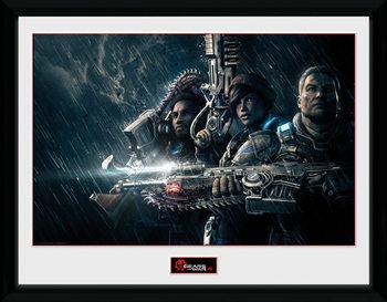 Gears of War 4 - Landscape ingelijste poster met glas