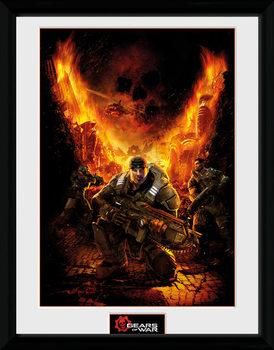 Gears of War - Gears 1 ingelijste poster met glas
