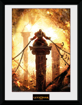 God of War - Kratos Chained ingelijste poster met glas