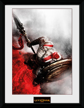 God of War - Kratos Sparta Wing ingelijste poster met glas