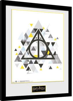 Ingelijste poster Harry Potter - Deathly Pixels