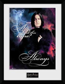 Ingelijste poster Harry Potter - Snape Always