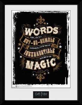 Harry Potter - Words ingelijste poster met glas