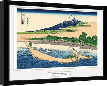 Ingelijste poster Hokusai - Shore of Tago Bay