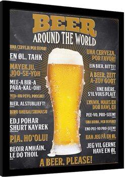 Ingelijste poster How To Order a Beer