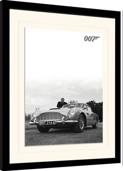 Ingelijste poster James Bond - Connery B+W