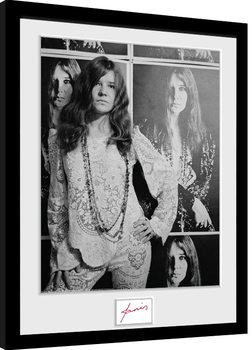 Janis Joplin - Wolman BW Ingelijste poster