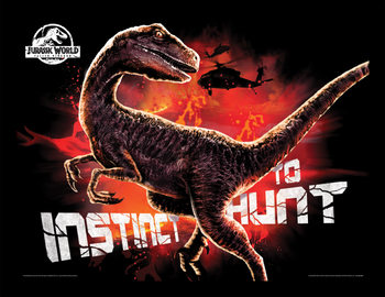 Jurassic World: Fallen Kingdom - Instinct To Hunt Ingelijste poster