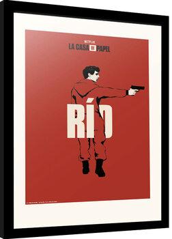 Ingelijste poster La Casa De Papel - Rio