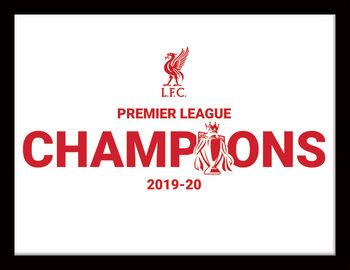 Liverpool FC - Champions 19/20 Ingelijste poster