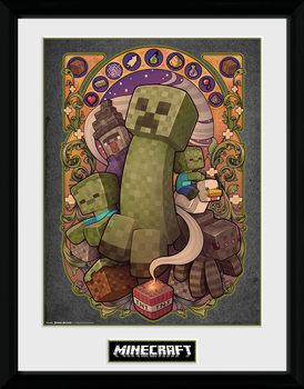 Minecraft - Creeper Nouveau ingelijste poster met glas