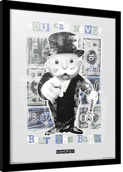 Ingelijste poster Monopoly - You Can Never Beat The Bank
