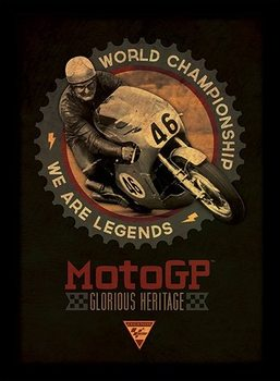 MOTO GP - legends Ingelijste poster