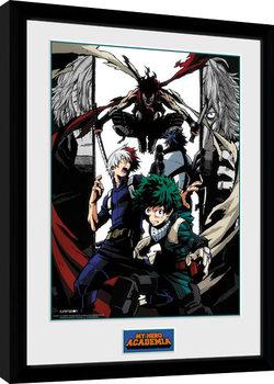 Ingelijste poster My Hero Academia - Heroes and Villains