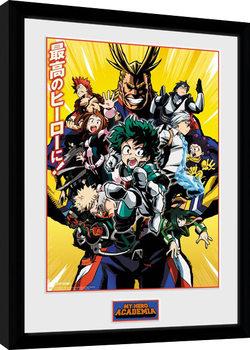 Ingelijste poster My Hero Academia - Season 1