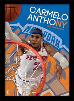 NBA - Carmelo Anthony ingelijste poster met glas