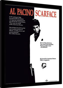 Ingelijste poster Scarface - One Sheet