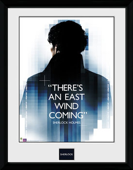 Sherlock - East Wind ingelijste poster met glas