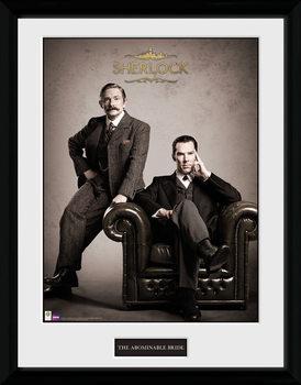 Sherlock - Victorian ingelijste poster met glas
