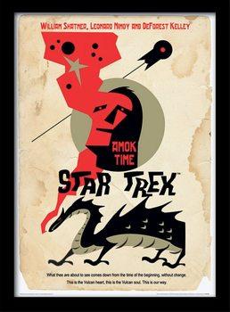 Star Trek - Amok Time ingelijste poster met glas