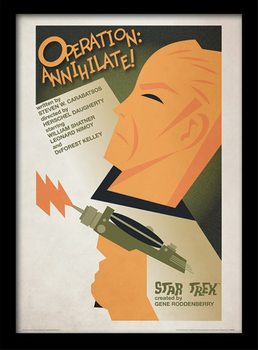 Star Trek - Operation: Annihilate! ingelijste poster met glas