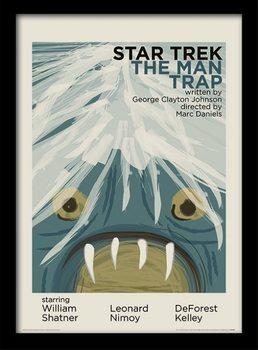 Star Trek - The Man Trap ingelijste poster met glas