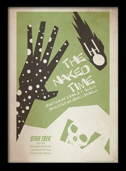 Star Trek - The Naked Time ingelijste poster met glas