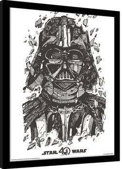Star Wars 40th Anniversary - Darth Vader Ingelijste poster
