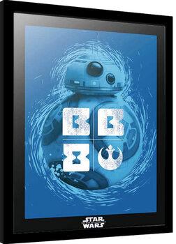 Ingelijste poster Star Wars: Episode IX - The Rise of Skywalker - BB-8 Blue