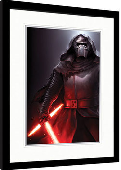 Ingelijste poster Star Wars Episode VII: The Force Awakens - Kylo Ren Stance