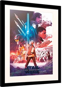 Ingelijste poster Star Wars: Episode VIII - The Last of the Jedi - Blue Saber
