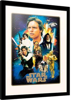 Ingelijste poster Star Wars - Heroes
