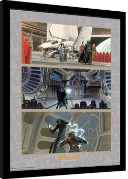 Ingelijste poster Star Wars - The Final Battle