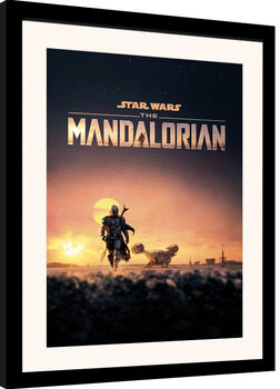 Ingelijste poster Star Wars: The Mandalorian