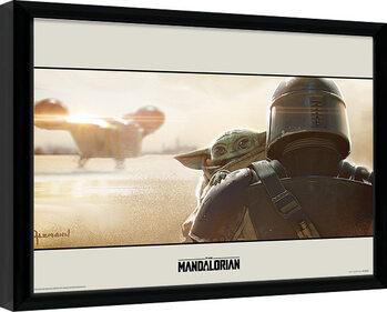 Ingelijste poster Star Wars: The Mandalorian - Shoulder