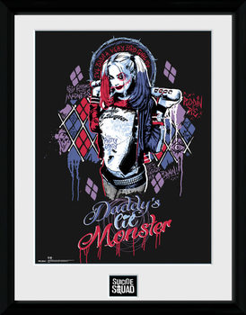 Suicide Squad - Harley Quinn Monster ingelijste poster met glas