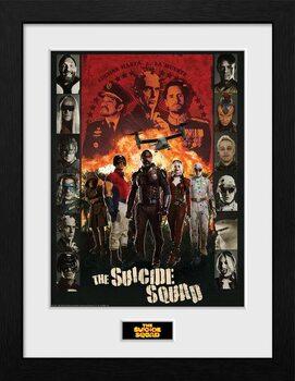 Ingelijste poster Suicide Squad - Team