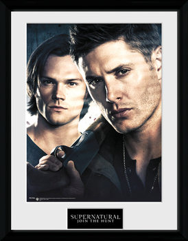 Supernatural - Brothers ingelijste poster met glas