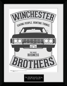 Supernatural - Winchester ingelijste poster met glas