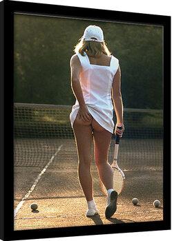 Ingelijste poster Tennis Girl